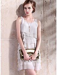 Women's Dresses , Nylon/Polyester Casual/Work SRT