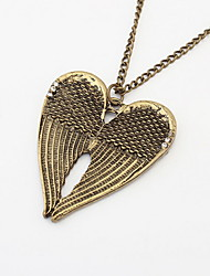 Vintage Alloy With Rhinestone Wings Women's Necklace