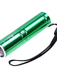 KX-H60 Cree XP-E R2 210LM 3-Mode Branco Lanterna Zoom - Verde (1 x 14500/1 x AA)