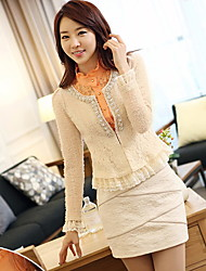 Women's Coats & Jackets , Lace Casual Long Sleeve LOONGZY