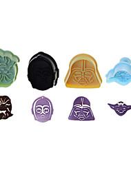 3D coupeurs de biscuit de décoration de gâteau moule Star Wars jeu de 4 pièces