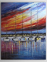 Hand Painted Oil Painting Landscapes boat With Stretched Frame 1311-LA1142