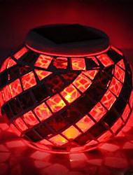 Mosaic Glass RGB Color-Changing LED Solar Powered Garden Light -Solar Table Light- Solar Small Night Light In Jar Design