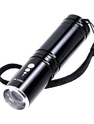 KX-H60 Cree XP-E R2 210LM 3-Mode Branco Lanterna Zoom - Preto (1 x 14500/1 x AA)