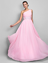 Homecoming Formal Evening/Prom/Military Ball Dress - Candy Pink Plus Sizes A-line One Shoulder Floor-length Chiffon