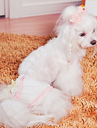 Beau bowknot dentelle Pant sanitaires pour les chiens (Assortiment de couleurs, tailles)