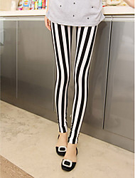 Women's Black-white Stripe Leggings