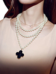 Magus Luxuxperlen lange Pullover Halskette