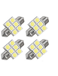 4 x 31mm 6x5050 SMD LED Soffitten White Light (4 Stück)