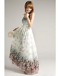 Women's Floral Print Strap Maxi Dress