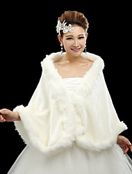 Fur Wraps / Wedding  Wraps Shawls Long Sleeve Faux Fur Ivory Wedding / Party/Evening / Casual