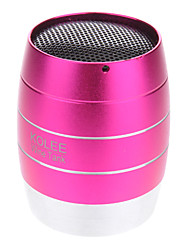 KOLEE Music Elf Wine Tank Design Mini Aluminium MP3 Speaker with TF Port/3.5mm Plug(Pink)