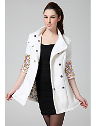 Women's Coats & Jackets , Others/Wool Casual DOWISI