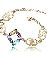 Delicate Alloy With Crystal Glass Women's Bracelets(More Colors)
