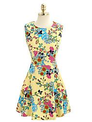 MFL Print Vest Dress
