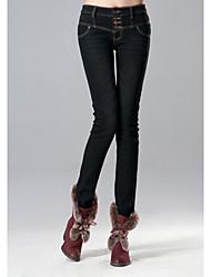 TS Simplicidade Segmentação Magro Cut Cintura Oriente jeans lavados lápis