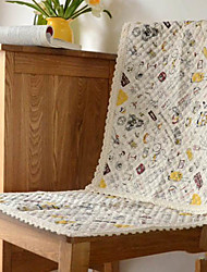 Modern Style 100% Cotton City Travelling Pattern Chair Pad Set