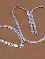 Simple Silver Jewelry Set (buy 1 get 2 free gifts)