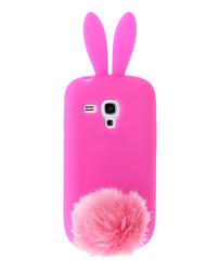 Funda Suave Trasera para Samsung Galaxy S3 Mini I8190 con Diseño de Conejito