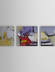Hand Painted Oil Painting Abstract Machinery with Stretched Frame Set of 3 1310-AB1202