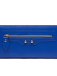 Love Match Women's Blue Synthetic Leather Haulage Motor Series Wallet