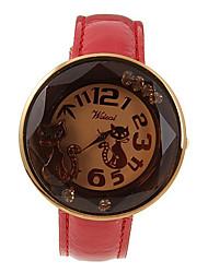 Weili Stylish Pu Belt Quartz Wrist Watch