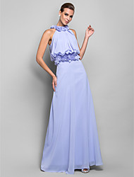 Formal Evening / Military Ball Dress - Lavender Plus Sizes / Petite Sheath/Column High Neck Floor-length Chiffon