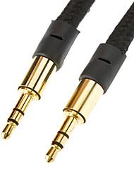 3,5 mm Stecker auf Stecker Wohnung Type Cable Black (1M)