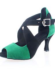 Индивидуальные женские Вельвет Верхний Обувь для танцев