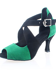 Women's Corduroy Upper Dance Shoes Customizable