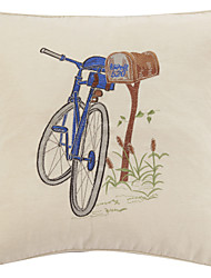 """18"""" Bike Lean on Mailbox Polyester Decorative Pillow Cover"""