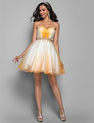 TS Couture Prom / Cocktail Party Dress - Print Plus Sizes / Petite A-line / Princess Strapless / Sweetheart Short/Mini Tulle