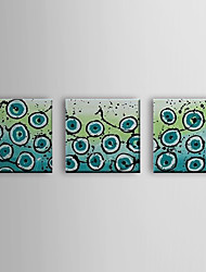 Hand Painted Oil Painting Abstract Cells with Stretched Frame Set of 3 1310-AB1200