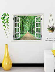 Landscape Path in Woods Wall Stickers