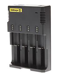 Carregador de Bateria Li-ion Ni-MH Ni-Cd da bateria Preto