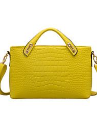 OPPO BAO Yellow Pu cuero Chil-libre Crocodile Stripe Top Grade Negocios Ol estilo elegante bolsa de hombro