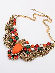 Aleación de la manera con el collar del Rhinestone Hawk Mujeres