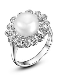Hanazo Women's 8-9mm Natural Pearl  Ring FR0002