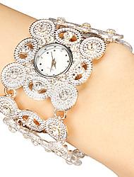 Mulheres Relógio Elegante Quartz Lega Banda Brilhante Preta / Prata / Dourada marca-