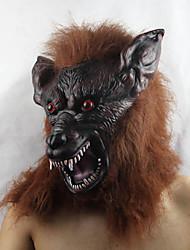 Brown Wolf Halloween Latex Mask