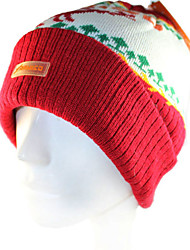 Ski Hat Ski Cap/Beanie Women's / Men's / Unisex Thermal / Warm / Windproof Snowboard Polyester / Wool Fabric Red / CoffeeFloral /