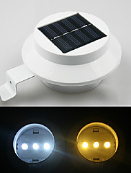 3-LED White Light Solar Energy Saving Zaun Gutter Outdoor-Garden Wall Pathway Lampe (CIS-57155B)
