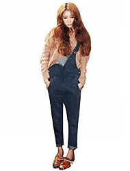 Women's Suspender Denim Pants