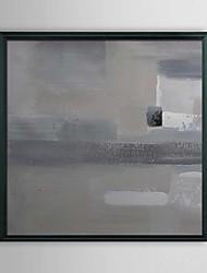 Abstrait gris Pigment encadrée peinture à l'huile