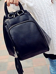 Women Bags All Seasons PU Backpack with for Casual Black Brown Red