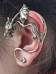 Women's Stud Earrings Ear Cuffs Unique Design Personalized Vintage Costume Jewelry Alloy Dragon Jewelry For Party Daily