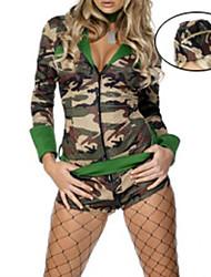 Hot Girl Camouflage Polyester Moyen-shirt Guerrier uniforme
