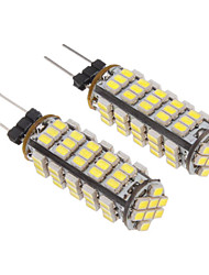 2pcs G4 68x3020SMD 100-200LM White Light Bulb LED per auto (10-30V)