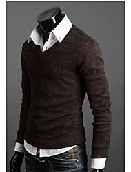 FSNZ Männer Coffee Fit V Neck Sweater