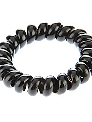 Fashion Black Plastic Hair Ties For Kids(Black)